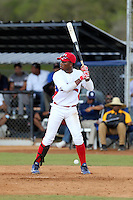 Jeremy Bautista participates in the International Prospect League Showcase at the New York Yankees academy in Boca Chica, Dominican Republic on January 24, 2014 (Bill Mitchell)