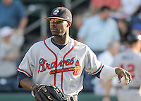 May 9, 2008: Outfielder Jason Heyward (24) of the Rome Braves, Class A affiliate of the Atlanta Braves, prior to a game against the Greenville Drive at Fluor Field at the West End in Greenville, S.C.   Photo by:  Tom Priddy/Four Seam Images