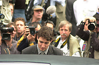 October 10, 2000 - file Photo - Montreal (Quebec) CANADA  Justin trudeau at Funeral of former Canadien Prime Minister Pierre Eliott Trudeau.