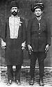 Iraq 1921.Suleimania: Sheikh Mahmoud Barzinji, left, with Sheikh Sardar Khan Ardalan  .Irak 1921 .Souleimania: a gauche, Sheikh Mahmoud Barzinji avec Sheikh Sardar Khan Ardalan