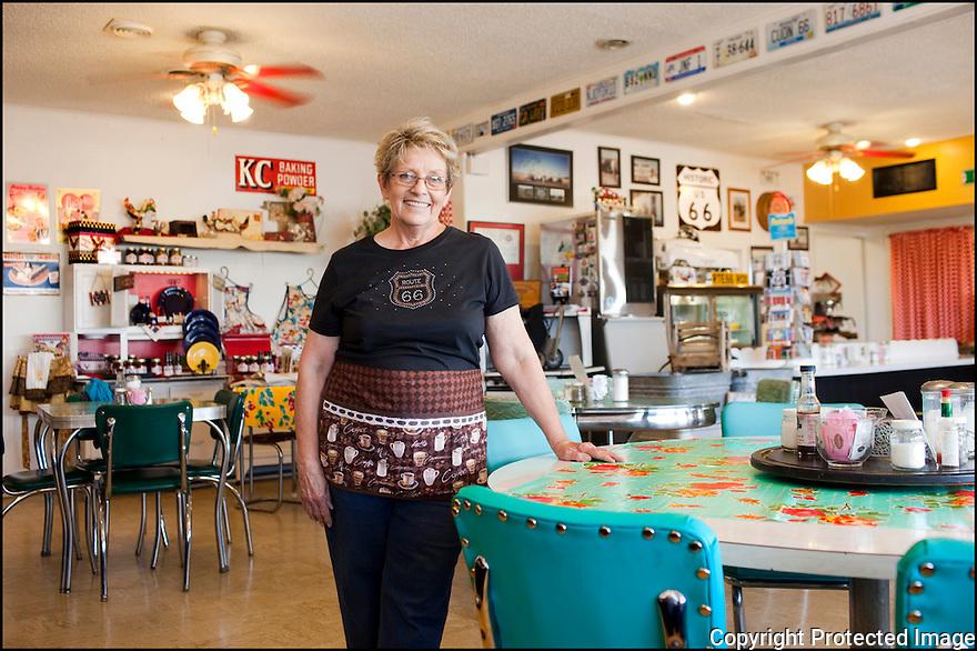 Texas-Route 66<br /> Midpoint café<br /> Portrait<br /> Adrian