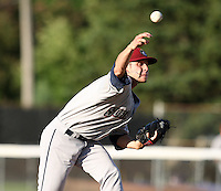 Mahoning Valley Scrappers pitcher Alex Kaminsky (8) delivers a pitch during a game vs. the Jamestown Jammers at Russell Diethrick Park in Jamestown, New York June 20, 2010.   Mahoning Valley defeated Jamestown 9-2.  Photo By Mike Janes/Four Seam Images