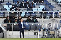 SAINT PAUL, MN - APRIL 24: Adrian Heath head coach of Minnesota United FC during a game between Real Salt Lake and Minnesota United FC at Allianz Field on April 24, 2021 in Saint Paul, Minnesota.