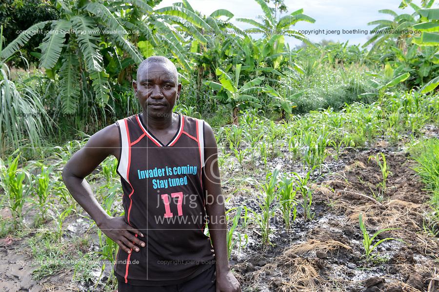 Sambia, Sinazese, Dorf Nkandabbwe, Dorfbewohner mußten der chinesischen Collum Kohlemine weichen und wurden umgesiedelt, Gemusegarten von Benson Siakabanze