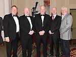 Joe Finegan, Niall Kerr, John Caffrey, Dermot Caffrey and Aidan Weldon pictured at the Ardee Traders Awards night in the Nuremore hotel Carrickmacross. Photo:Colin Bell/pressphotos.ie