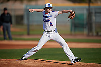 Edward Berry during the Under Armour All-America Pre-Season Tournament, powered by Baseball Factory, on January 19, 2019 at Sloan Park in Mesa, Arizona.  Edward Berry is a right handed pitcher from Birmingham, Alabama who attends Mountain Brook High School.  (Mike Janes/Four Seam Images)