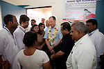 12 March 2013, Kanpur, Uttar Pradesh India: President of the World Bank, Mr Jim Yong Kim speaks with speaks with Anganwadi health workers on his visit to the village of Tilsarikhurd village near to the city of Kanpur in Uttar Pradesh state. Mr.Kim is visiting India  for meetings with local staff, Indian Government Ministers and to inspect projects sponsored by World Bank in regional areas. Picture by Graham Crouch/World Bank
