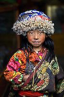 Tibet girl, in Lunang valley, Central Tibet, 2004