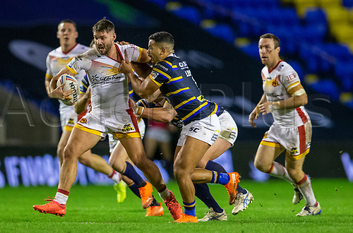13th November 2020; The Halliwell Jones Stadium, Warrington, Cheshire, England; Betfred Rugby League Playoffs, Catalan Dragons versus Leeds Rhinos; Jason Baitieri of Catalans Dragons is tackled