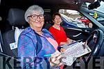 Bridie O'Connor Carmody and Bridie Sheehy enjoying the Drive In Bingo in Castleisland on Sunday
