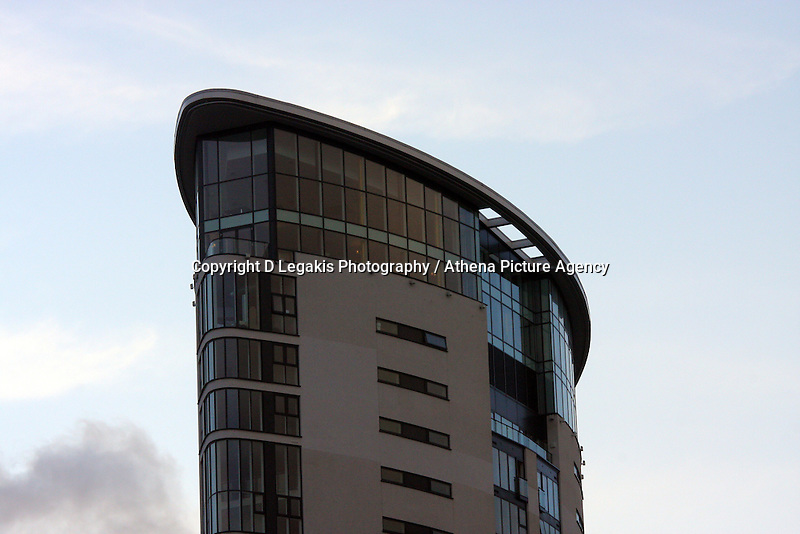 Pictured: Meridian Quay as seen from Townhill. <br /> Re: The new Penthouse restaurant on the top three levels of Meridian Quay, the highest building in Wales situated in Swansea Marina. Wednesday 25 November 2009<br /> Picture by D Legakis Photography / Athena Picture Agency, 24 Belgrave Court, Swansea, SA1 4PY, 07815441513
