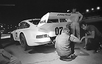 The #07 Porsche 930 of Ludwig Heimrath and Ludwig Heinrath, Jr. makes a pit stop en route to a 70th place finish in the SunBank 24 at Daytona, Daytona International Speedway, Daytona Beach, FL, Feb. 4-5, 1984. (Photo by Brian Cleary/www.bcpix.com)