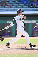 Greg Garcia, Hawaii Rainbows, playing against Louisana Tech Bulldogs on day one of the Western Athletic Conference tournament at Hohokam Park, Mesa, AZ - 05/26/2010. Hawaii defeated Louisiana Tech, 8-7, in 10 innings..Photo by:  Bill Mitchell/Four Seam Images.