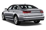 Car pictures of rear three quarter view of a 2018 Audi A6 Base 4 Door Sedan angular rear