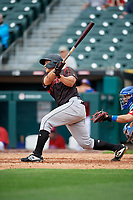 Indianapolis Indians Steven Baron (44) at bat during an International League game against the Buffalo Bisons on June 20, 2019 at Sahlen Field in Buffalo, New York.  Buffalo defeated Indianapolis 11-8  (Mike Janes/Four Seam Images)