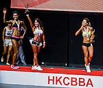 Winners of the Women's Sport Physique category during the 2016 Hong Kong Bodybuilding Championships on 12 June 2016 at Queen Elizabeth Stadium, Hong Kong, China. Photo by Lucas Schifres / Power Sport Images