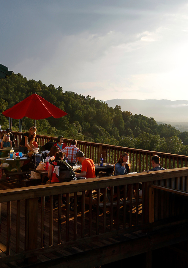 People enjoy a moment at Carter's Mountain Orchard in Charlottesville, VA. Photo/Andrew Shurtleff