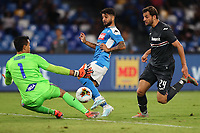 Emil Audero of Sampdoria and Lorenzo Insigne of Napoli compete for the ball<br /> Napoli 14-9-2019 Stadio San Paolo <br /> Football Serie A 2019/2020 <br /> SSC Napoli - UC Sampdoria<br /> Photo Cesare Purini / Insidefoto