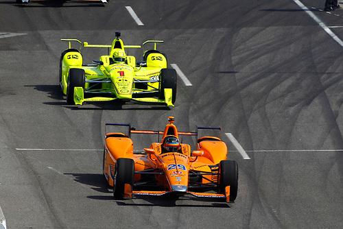 Verizon IndyCar Series<br /> Indianapolis 500 Carb Day<br /> Indianapolis Motor Speedway, Indianapolis, IN USA<br /> Friday 26 May 2017<br /> Fernando Alonso, McLaren-Honda-Andretti Honda<br /> World Copyright: Phillip Abbott<br /> LAT Images<br /> ref: Digital Image abbott_indy_0517_26971