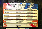 Lobby cast board for the opening night performance curtain call bows for 'Sunday in the Park with George' at the Hudson Theatre on February 23, 2017 in New York City.