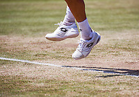 Den Bosch, Netherlands, 10 June, 2016, Tennis, Ricoh Open, shoes on grascourt<br /> Photo: Henk Koster/tennisimages.com
