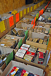 Dunsfold Landrovers Series 1 Parts Weekend 22-24/10/2004, Dunsfold, UK. Original new old stock spare parts for historic Land Rovers on sale at the Dunsfold Landrovers Parts Weekend. --- No releases available. --- The garage Dunsfold Landrovers (DLR) was established in 1968 in Dunsfold, Surrey, UK. Due to the ever growing number of Land Rover vehicles the Dunsfold Collection of Land Rovers was launched in 1993. Supported by the company Land Rover and the Gaydon Heritage Centre today Dunsfold is maintaining the biggest and most varied collection of Land Rovers in the world. Because of the enormous quantity of original spare parts for older Land Rovers that are now stored in Dunsfold, every now and then a theme-event is held.