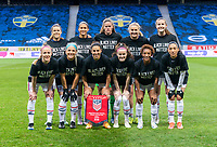 SOLNA, SWEDEN - APRIL 10: The USWNT poses for the starting XI photo before a game between Sweden and USWNT at Friends Arena on April 10, 2021 in Solna, Sweden.