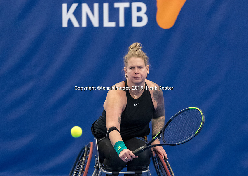 Amstelveen, Netherlands, 8  December, 2020, National Tennis Center, NTC, NKR, National  Indoor Wheelchair Tennis Championships, Women's single: 	 Michaela Spaanstra (NED)<br /> Photo: Henk Koster/tennisimages.com