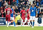 St Johnstone v Rangers…22.09.19   McDiarmid Park   SPFL<br />Jermaine Defoe celebrates his second goal<br />Picture by Graeme Hart.<br />Copyright Perthshire Picture Agency<br />Tel: 01738 623350  Mobile: 07990 594431