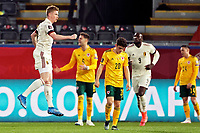 24th March 2021; Leuven, Belgium;  Kevin De Bruyne of Belgium celebrates as he scores a goal during the World Cup Qatar 2022 Qualifiers Match between Belgium and Wales on March 24, 2021 in Leuven, Belgium