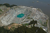 aerial photograph, Dutra Rock Quarry,San Rafael, Marin County, California