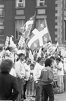 Defile de la St-Jean-Baptiste, date inconnue , vers 1990<br /> <br /> PHOTO :  Agence Quebec Presse