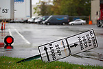 A bent sign displays Amazon.com Inc. signage at an Amazon.com Inc. delivery station, during the company's two-day Prime Day sale, on Tuesday, Oct. 13, 2020 in Moonachie, NJ. Photograph by Michael Nagle