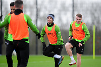 Yan Dhanda of Swansea City during the Swansea City Training at The Fairwood Training Ground in Swansea, Wales, UK.  Wednesday 08 January 2020