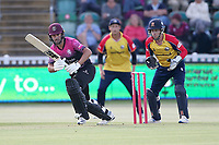 Lewis Gregory in batting action for Somerset during Somerset vs Essex Eagles, Vitality Blast T20 Cricket at The Cooper Associates County Ground on 9th June 2021