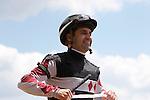 May 17, 2014. Happy My Way, Joe Bravo up, wins the Grade III Maryland Sprint Handicap at Pimlico Race Course in Baltimore, MD. ©Joan Fairman Kanes/ESW/CSM