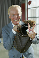 Montreal (Qc) CANADA - August 19 2009 - <br /> V-Tele<br />  launch - Michel Girouard and his dog