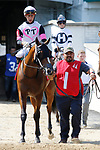 June 26,, 2021: #1 Vodka N Water and Jose Ortiz in the Bashford Manor at Churchill Downs.  Louisville, KY on June 26, 2021.  Candice Chavez/ESW/CSM