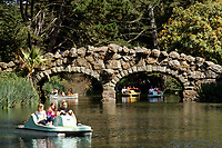 San Francisco, California.  Paddle Boats on Stow Lake, Golden Gate Park.