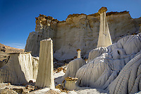 The distinctive sandstone rock formations know as the Wahweap Hoodoos stand out in the Southern Utah landscape.