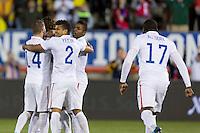 East Hartford, CT - Friday, October 10, 2014: The USMNT tied Ecuador 1-1 during an international friendly at Rentschler Field.