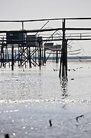 Europe/France/Pays de la Loire/44/Loire-Atlantique/Moutiers-en-Retz: Pêcherie prés du   Port du Collet  dans la baie de Bourgneuf-en-Retz