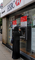 The HSBC in London.  The HSBC and other money lenders anticipate a surge in lending as the Government helps first time buyers get on the mortgage ladder.  29-Sept-2013