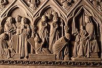 Europe/France/Limousin/19/Corrèze/Aubazine: Tombeau de Saint Etienne XIIIème - Détail