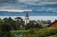 Europe/France/Rhône-Alpes/74/Haute-Savoie/Évian-les-Bains: La ville et le Lac Léman