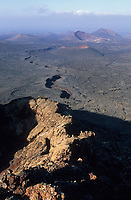 Europe/Espagne/Canaries/Lanzarote/Parc National du Timanfaya : Paysage volcanique