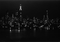 New York city views, from St. George Hotel. To financial district, night view. Jan 6 1933<br /> <br /> Photo by Gottscho-Schleisner