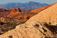 Valley of Fire, Nevada.  Scenic View from White Domes Trail.