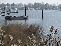 A foggy morning in Wickford Rhode Island.