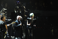 New-York (NY) USA - October 1st 2011 - Sting 60th birthday charity  concert at Beacon Theatre, with Lady Gaga, will.i.am ,Bruce Springsteen, Billy Joel, Robert Downey, Jr. and Mary J. Blige ,Tom Hanks and wife Rita Wilson, Jake Gyllenhaal, Darren Aronofsky and Melanie Griffith.  and Stevie Wonder<br /> <br />  - PHOTO D'ARCHIVE :  Agence Quebec Presse